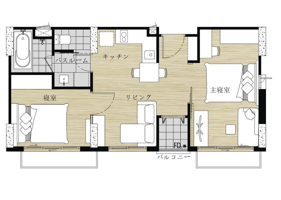 2Bed room(50~60㎡)